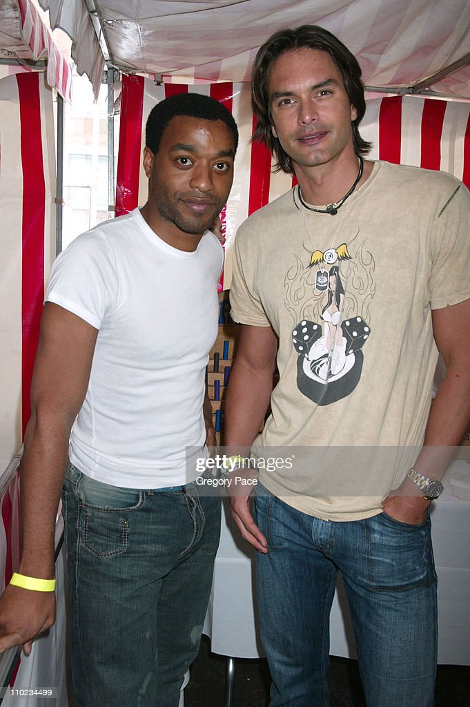 Chiwetel Ejiofor and Marcus Schenkenberg during 12th Annual Kids for Kids Celebrity Carnival to Benefit the Elizabeth Glaser Pediatric AIDS...