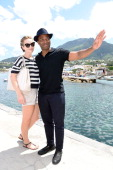 Chiwetel Ejiofor and Sari Mercer attend Day 2 of the Ischia Global Film Music 2014 on July 13 2014 in Ischia Italy