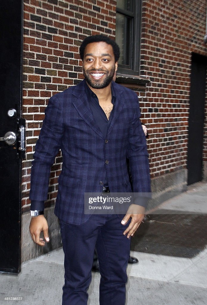 <a gi-track='captionPersonalityLinkClicked' href=/galleries/search?phrase=Chiwetel+Ejiofor&family=editorial&specificpeople=213998 ng-click='$event.stopPropagation()'>Chiwetel Ejiofor</a> arrives for the 'Late Show with David Letterman' at Ed Sullivan Theater on November 21, 2013 in New York City.