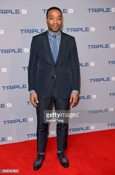 Chiwetel Ejiofor attends the Special Screening of 'Triple 9' at Ham Yard Hotel on February 9 2016 in London England