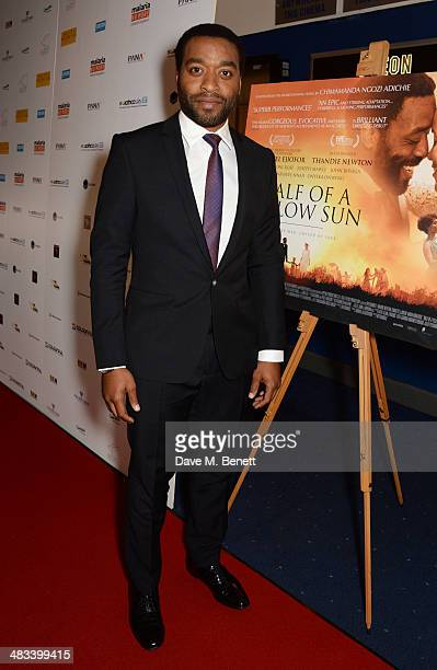 Chiwetel Ejiofor attends the UK Premiere of 'Half Of A Yellow Sun' at Odeon Streatham on April 8 2014 in London England