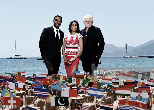 Chiwetel Ejiofor Freida Pinto and Richard Curtis launch the first ever global cinema ad campaign during the Cannes Lions International Festival of...