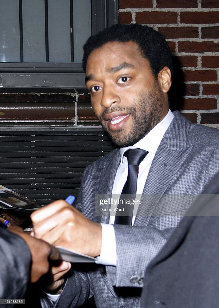 <a gi-track='captionPersonalityLinkClicked' href=/galleries/search?phrase=Chiwetel+Ejiofor&family=editorial&specificpeople=213998 ng-click='$event.stopPropagation()'>Chiwetel Ejiofor</a> leaves the 'Late Show with David Letterman' at Ed Sullivan Theater on November 21, 2013 in New York City.