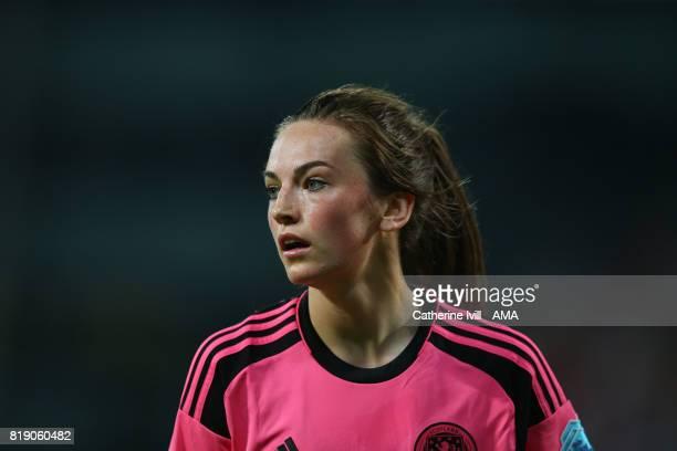 Chloe Arthur of Scotland Women during the UEFA Women's Euro 2017 match between England and Scotland at Stadion Galgenwaard on July 19 2017 in Utrecht...