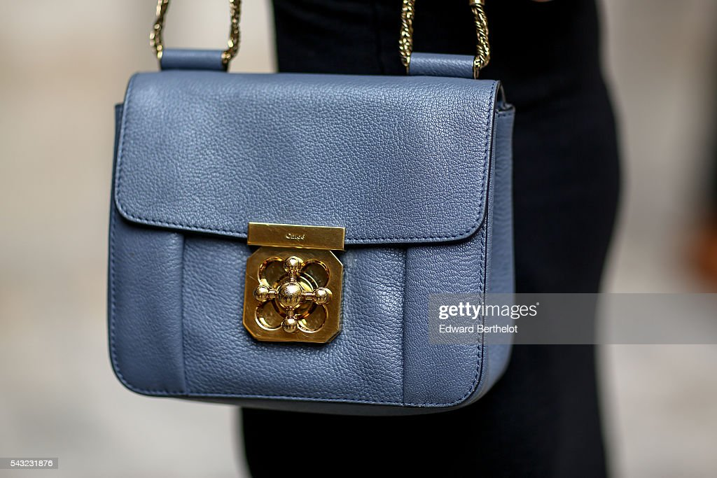 A Chloe bag is seen, before the Sean Suen show, during Paris Fashion Week Menswear Spring/summer 2017, on June 26, 2016 in Paris, France.