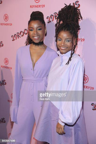 Chloe Bailey and Halle Bailey aka Chloe x Halle attend 29Rooms Opening Night 2017 on September 7 2017 in New York City