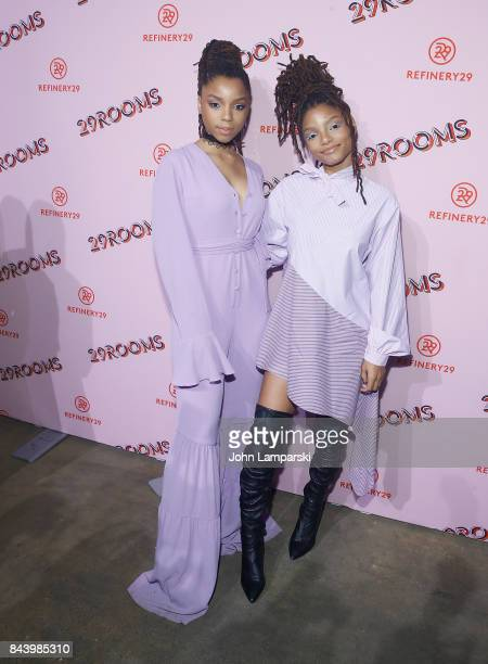 Chloe Bailey and Halle Bailey attend 29Rooms opening night 2017 on September 7 2017 in New York City