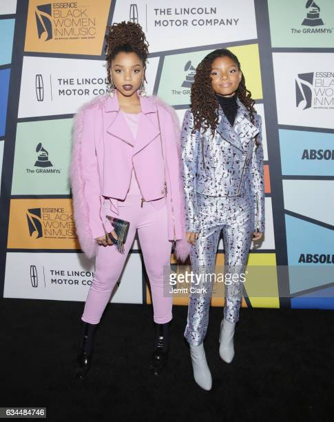 Chloe Bailey and Halle Bailey of Chloe x Halle attend the 8th Annual Essence Black Women In Music Event at NeueHouse Hollywood on February 9 2017 in...