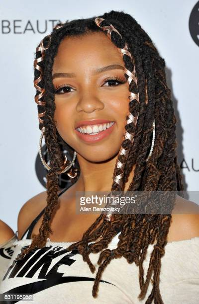 Chloe Bailey of Chloe x Halle attends the 5th Annual Beautycon Festival Los Angeles at Los Angeles Convention Center on August 13 2017 in Los Angeles...