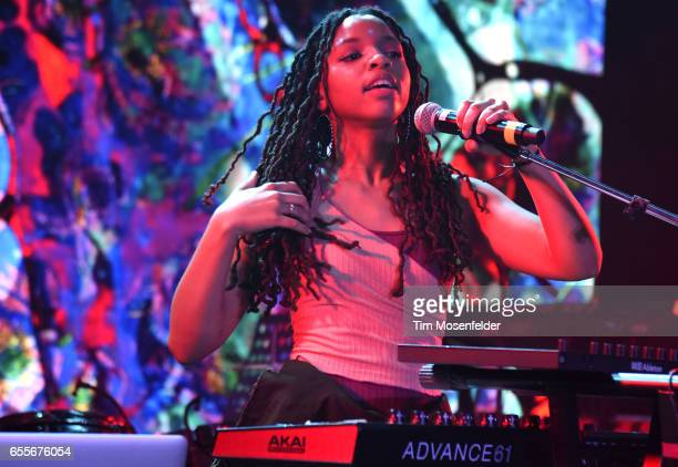 Chloe Bailey of Chloe x Halle performs during the YouTube @ SXSW showcase at the Coppertank during the 2017 SXSW Conference And Festivals on March 17...