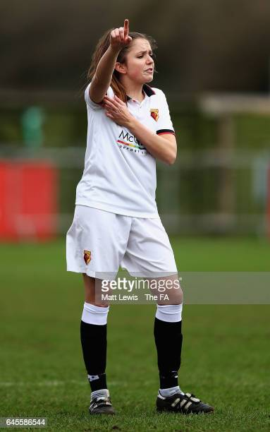 Chloe Bassett of Watford Ladies FC in action during the WSL 2 match between Watford Ladies v London Bees on February 26 2017 in Kings Langley England