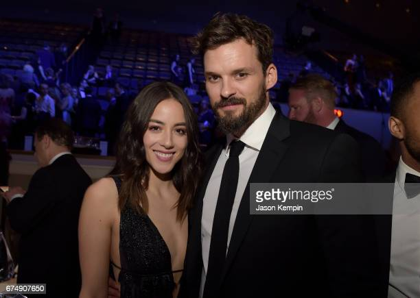 Chloe Bennet and Austin Nichols attend Full Frontal With Samantha Bee's Not The White House Correspondents' Dinner at DAR Constitution Hall on April...