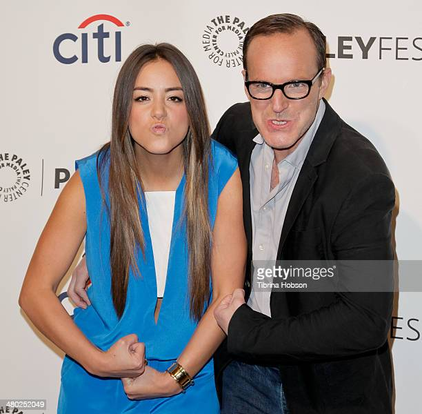 Chloe Bennet and Clark Gregg attend the Paley Center for Media's PaleyFest 2014 honoring 'Marvel's Agents Of SHIELD' at Dolby Theatre on March 23...