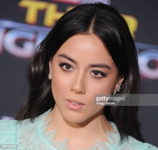 Chloe Bennet arrives at the premiere of Disney and Marvel's 'Thor Ragnarok' at the El Capitan Theatre on October 10 2017 in Los Angeles California