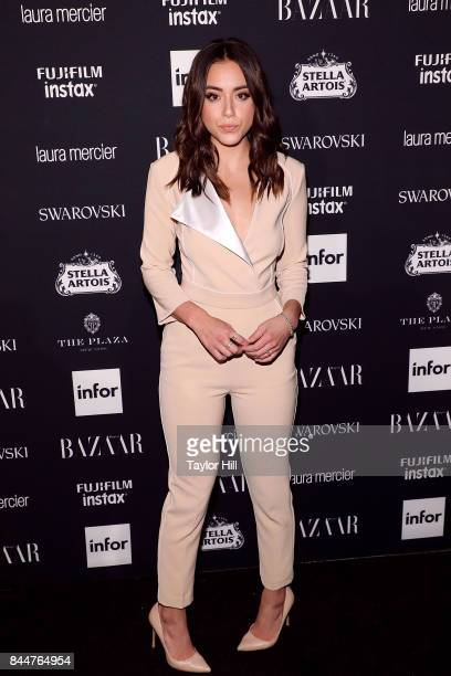 Chloe Bennet attends the 2017 Harper ICONS party at The Plaza Hotel on September 8 2017 in New York City
