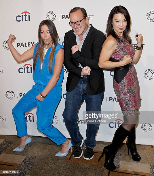 Chloe Bennet Clark Gregg and MingNa Wen attend the Paley Center for Media's PaleyFest 2014 honoring 'Marvel's Agents Of SHIELD' at Dolby Theatre on...