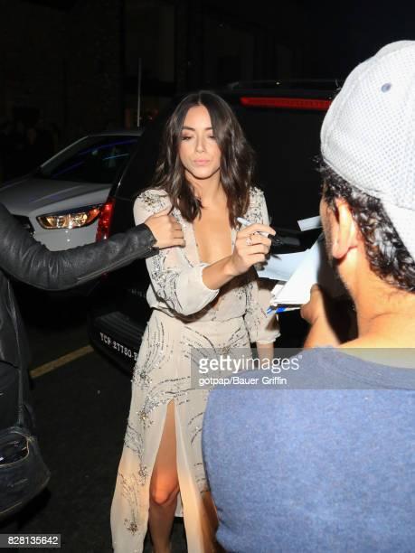 Chloe Bennet is seen on August 08 2017 in Los Angeles California