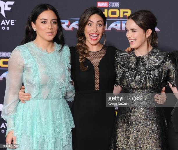 Chloe Bennet Natalia CordovaBuckley and Elizabeth Henstridge arrive at the premiere of Disney and Marvel's 'Thor Ragnarok' at the El Capitan Theatre...