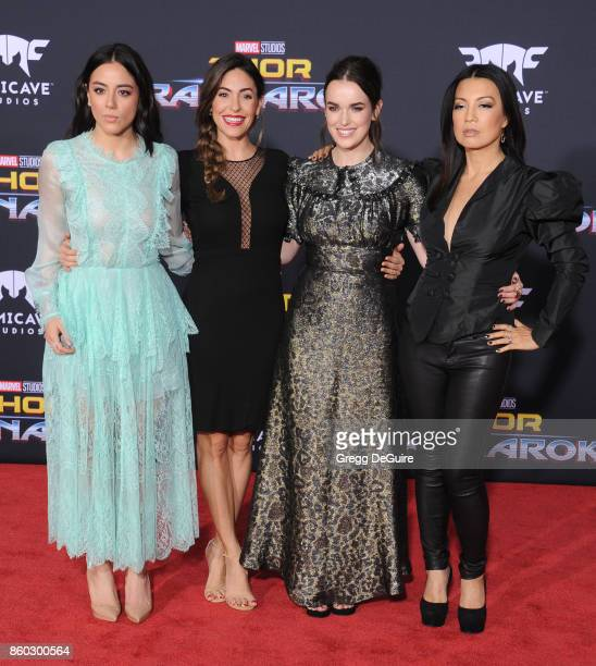 Chloe Bennet Natalia CordovaBuckley Elizabeth Henstridge and MingNa Wen arrive at the premiere of Disney and Marvel's 'Thor Ragnarok' at the El...