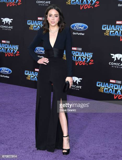 Chloe Bennett arrives at the Premiere Of Disney And Marvel's 'Guardians Of The Galaxy Vol 2' at Dolby Theatre on April 19 2017 in Hollywood California
