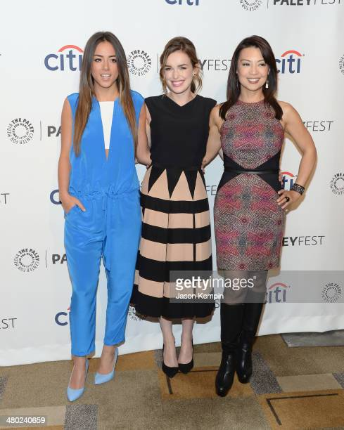 Chloe Bennett Elizabeth Henstridge and MingNa Wen attend The Paley Center For Media's PaleyFest 2014 Honoring 'Marvel's Agents Of SHIELD' at Dolby...