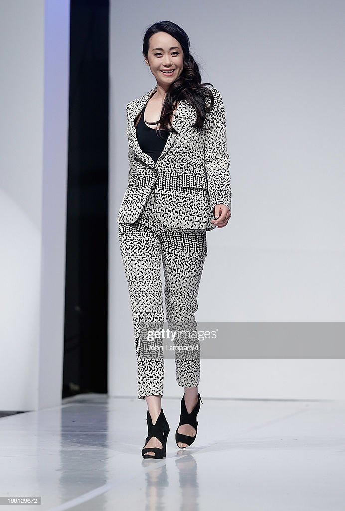 Chloe Chen walks the runway at the 2013 From Scotland With Love Charity Fashion Show at Stage 48 on April 8, 2013 in New York City.