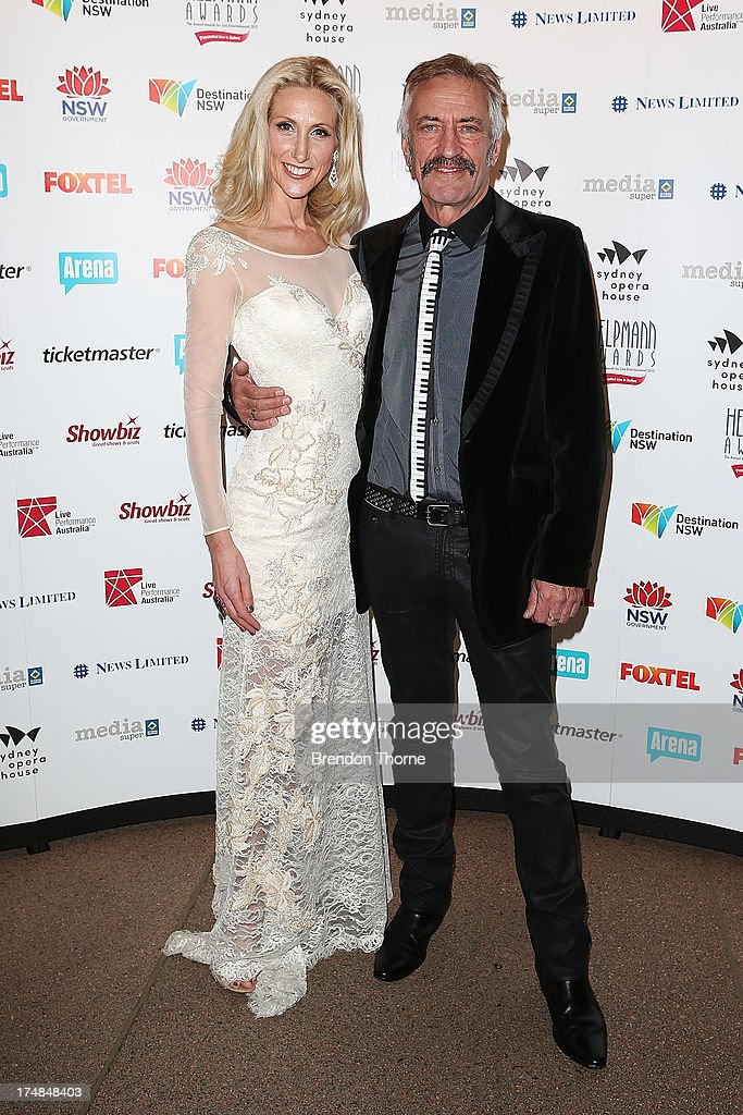 Chloe Dallimore and John Waters arrives at the 2013 Helpmann Awards at the Sydney Opera House on July 29, 2013 in Sydney, Australia.