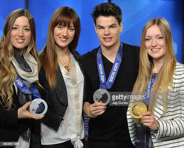 Chloe DufourLapointe Maxime DufourLapointe Mikael Kingsbury and Justine DufourLapointe talk about their experience at the 2014 Sochi Olympics at The...