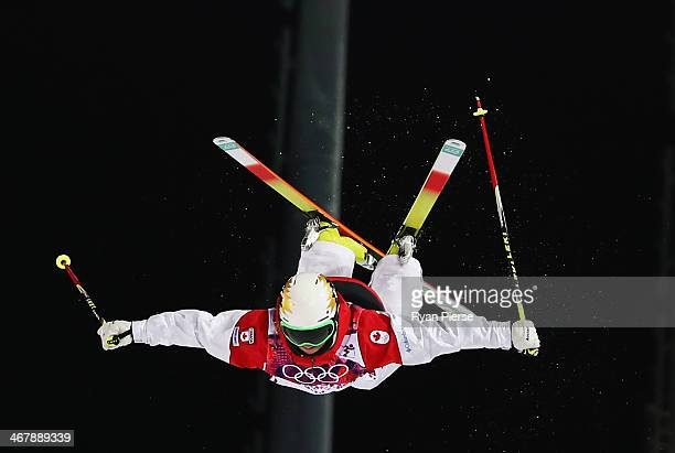 Chloe DufourLapointe of Canada competes during Ladies' Moguls Final during day 1 of the Sochi 2014 Winter Olympics at Rosa Khutor Extreme Park on...