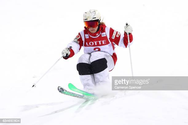 Chloe DufourLapointe of Canada competes in the FIS Freestyle Ski World Cup 2016/17 Womens Moguls Final at Bokwang Snow Park on February 11 2017 in...