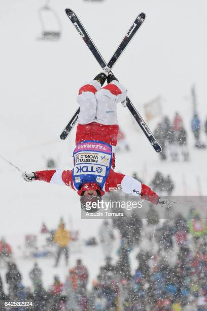 Chloe DufourLapointe of Canada competes in the ladies moguls during 2017 FIS Freestyle Ski World Cup Tazawako In Akita supported by TDK at Tazawako...
