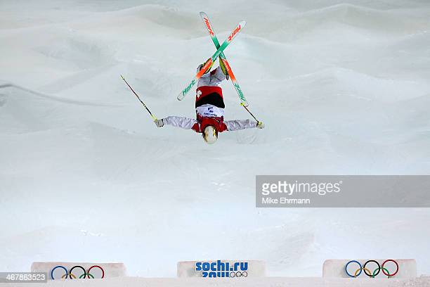 Chloe DufourLapointe of Canada competes in the Ladies' Moguls Final 1 on day one of the Sochi 2014 Winter Olympics at Rosa Khutor Extreme Park on...