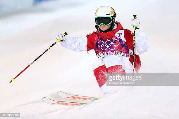 Chloe DufourLapointe of Canada competes in the Ladies' Moguls Final 3 on day one of the Sochi 2014 Winter Olympics at Rosa Khutor Extreme Park on...