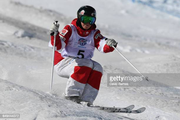 Chloe DufourLapointe of Canada competes in the Women's Moguls qualification on day one of the FIS Freestyle Ski Snowboard World Championships 2017 on...
