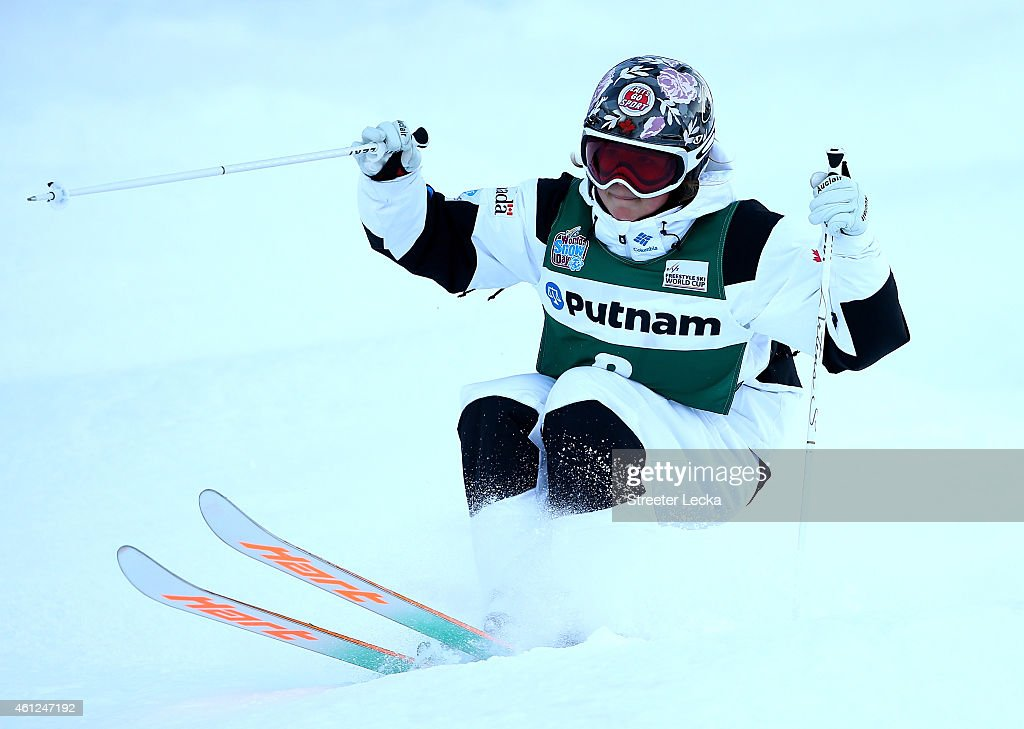 Chloe Dufour-LaPointe of Canada in the women's moguls qualification during the 2015 FIS Freestyle Ski World Cup at Deer Valley on January 9, 2015 in Park City, Utah.