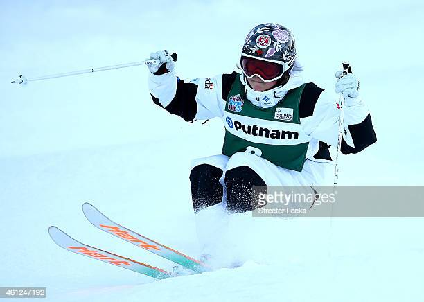 Chloe DufourLaPointe of Canada in the women's moguls qualification during the 2015 FIS Freestyle Ski World Cup at Deer Valley on January 9 2015 in...