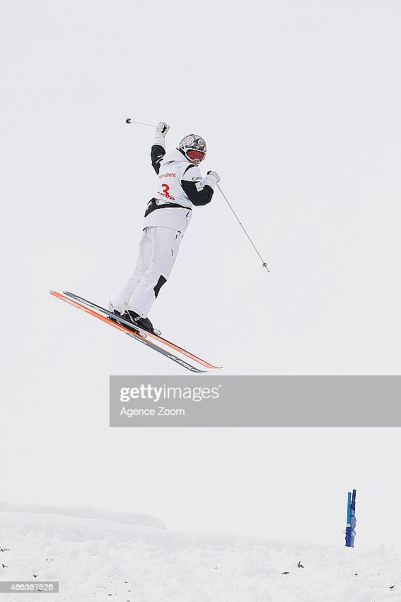 Chloe Dufour-Lapointe of Canada takes 3rd place during the FIS Freestyle Skiing Dual Moguls on March 15, 2015 in Megeve, France.