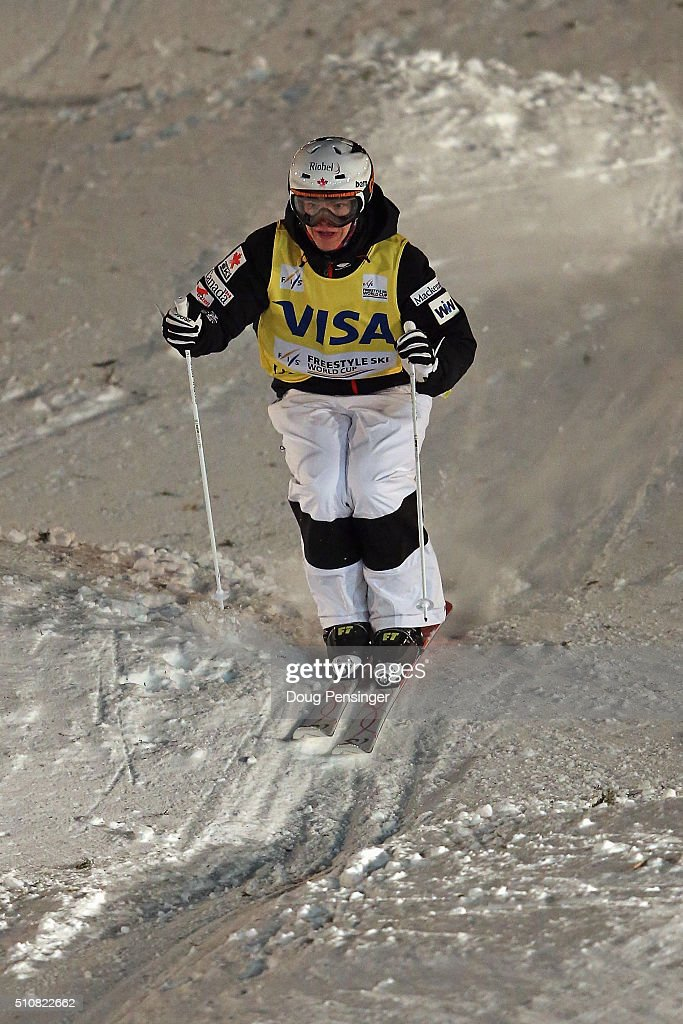 Chloe Dufour-Lapointe skis in the the FIS Freestyle Skiing Moguls World Cup at the Visa Freestyle International at Deer Valley on February 4, 2016 in Park City, Utah.