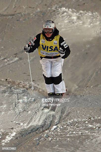 Chloe DufourLapointe skis in the the FIS Freestyle Skiing Moguls World Cup at the Visa Freestyle International at Deer Valley on February 4 2016 in...