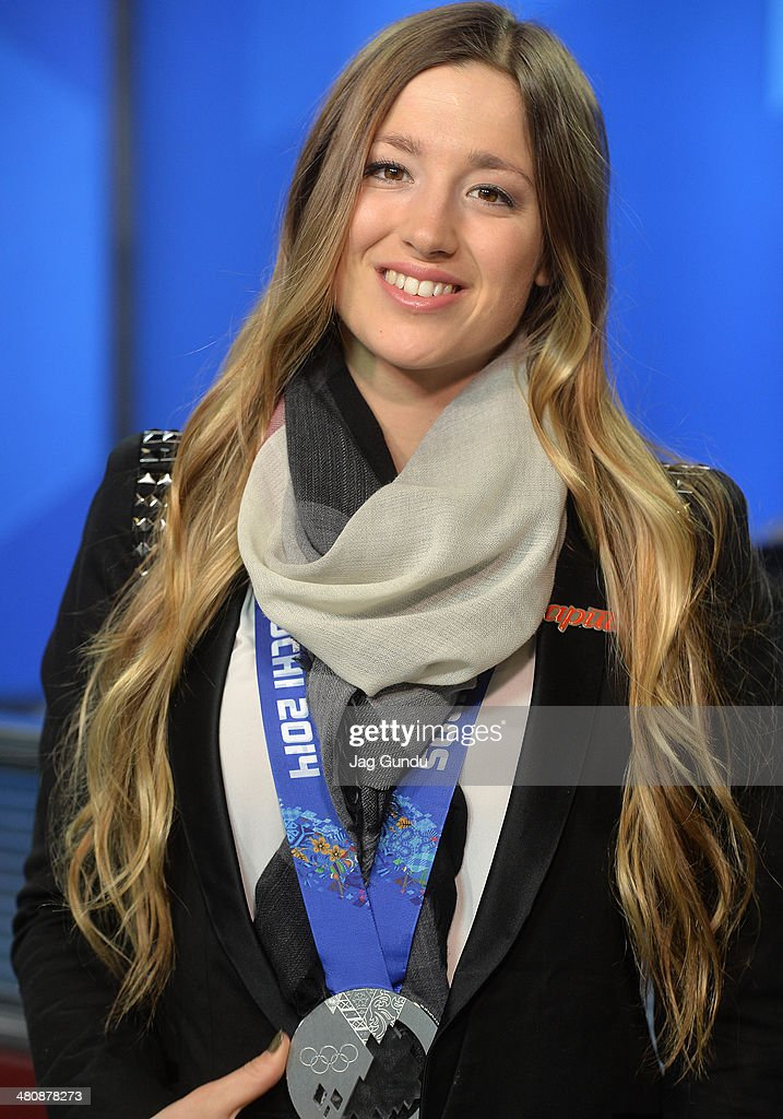 Chloe Dufour-Lapointe talks about the 2014 Sochi Olympics, taking home the silver medal and sharing the Olympic podium with family at The Morning Show Studios on March 27, 2014 in Toronto, Canada.