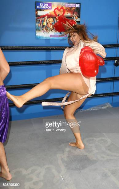 Chloe Ferry attends an Ex on the beach photocall to launch series 7 at the Fight City Gym on June 20 2017 in London England