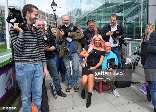 Chloe Ferry attends the Geordie Shore series 15 'Shag Pad on Tour ' cast launch at Tower Bridge on August 16 2017 in London England