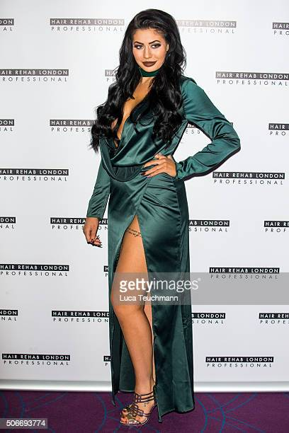 Chloe Ferry attends the Launch SS Collection by Hair Rehabon January 25 2016 in London England