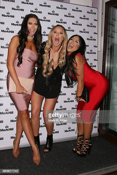 Chloe Ferry Charlotte Crosby and Sophie Kasaei attending the Mark Hill Hair Pick N Mix launch event on July 27 2016 in London England