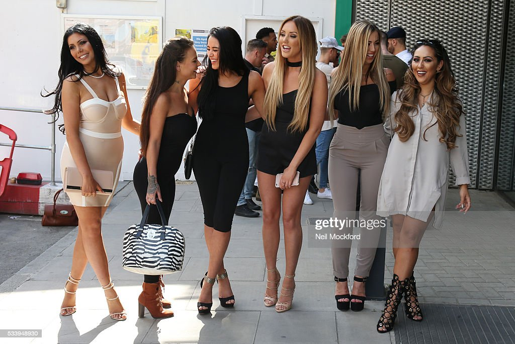 Chloe Ferry, Marnie Simpson, <a gi-track='captionPersonalityLinkClicked' href=/galleries/search?phrase=Charlotte+Crosby&family=editorial&specificpeople=9197610 ng-click='$event.stopPropagation()'>Charlotte Crosby</a> and <a gi-track='captionPersonalityLinkClicked' href=/galleries/search?phrase=Holly+Hagan&family=editorial&specificpeople=7801727 ng-click='$event.stopPropagation()'>Holly Hagan</a> at MTV HQ in Camden to celebrate the Geordie Shore 5th Birthday Party on May 24, 2016 in London, England.