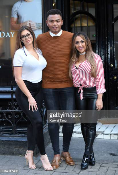 Chloe Ferry Nathan Henry and Sophie Kasaei attend the Geordie Shore Radge Academy open day in Soho on March 16 2017 in London United Kingdom
