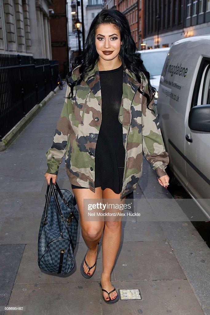 London Celebrity Sightings -  January 25, 2016