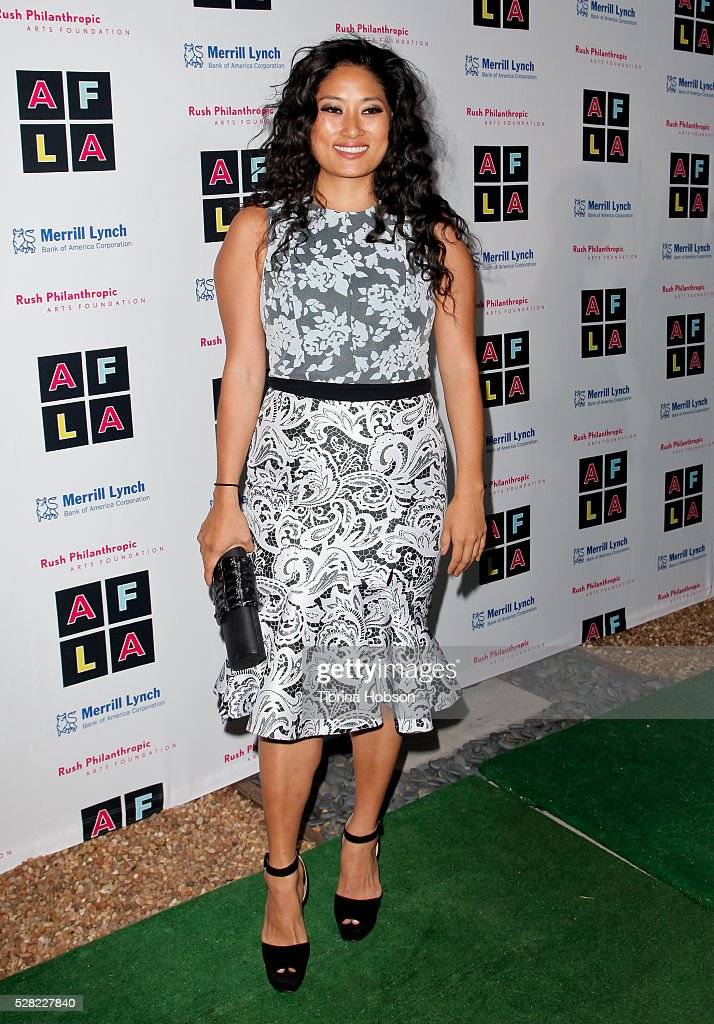 Chloe Flower attends Russell Simmons' Rush Philanthropic Arts Foundation's Inaugural Art For Life Celebration on May 3 2016 in West Hollywood...