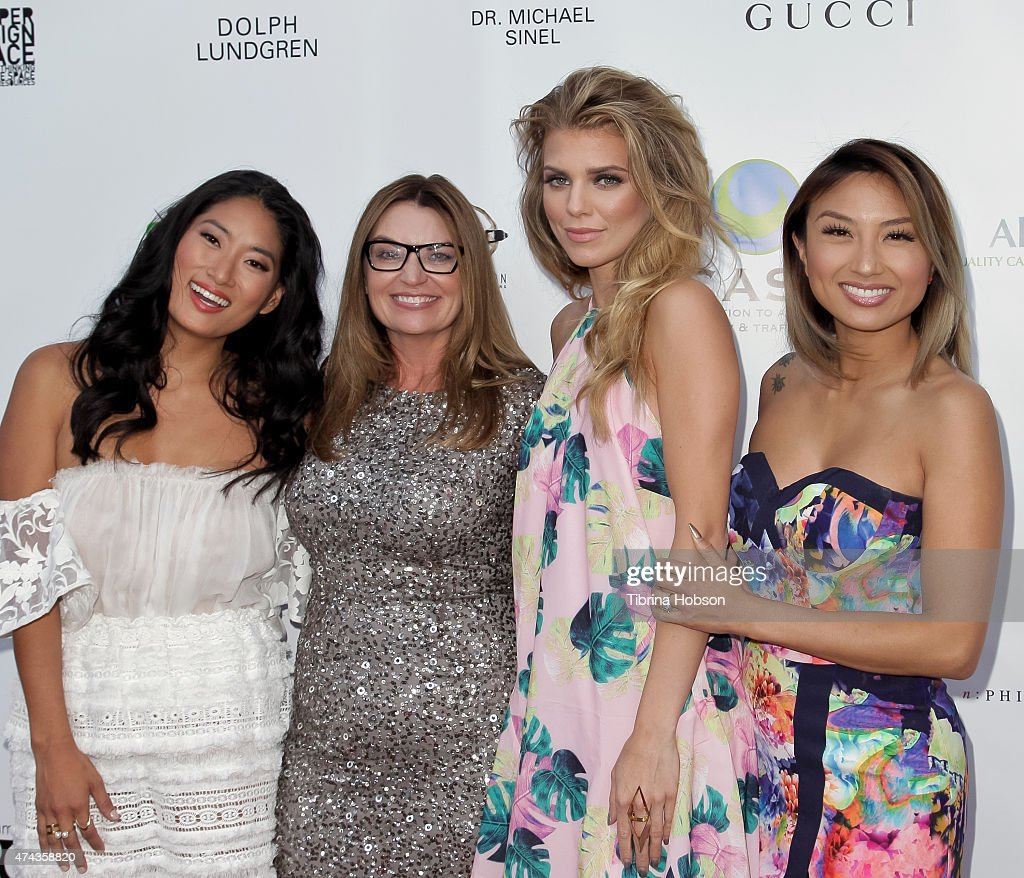 Chloe Flower, Kay Buck, AnnaLynne McCord and Jeannie Mai attend the 17th annual CAST from slavery to freedom gala May 21, 2015 in Los Angeles, California.