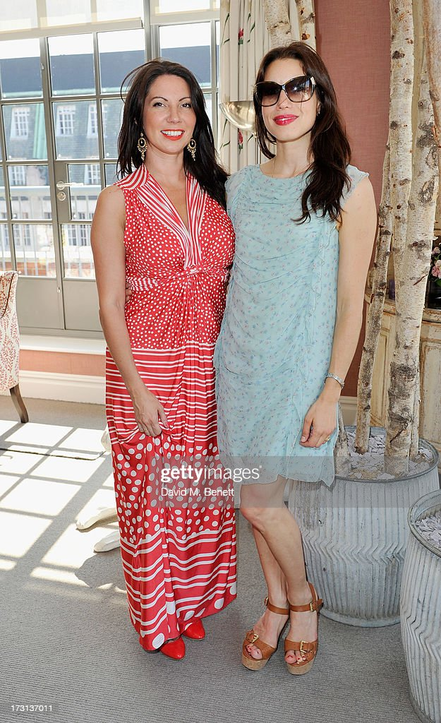 Chloe Francis and Lauren Kemp attend Mary Katrantzou for Rodial candle launch party at Soho Hotel on July 8, 2013 in London, England.